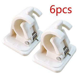 Adhesive Wall Curtain Hanging Rod Clamp Hooks, Shower Curtain Rod Fixed Clip