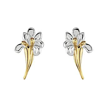 Boucles d'oreilles Dew Sterling Silver Iris Gold Plated Stud 40804GD028