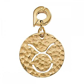 Nikki Lissoni Taurus Médio Ouro Banhado Dangle Charme D1001GM