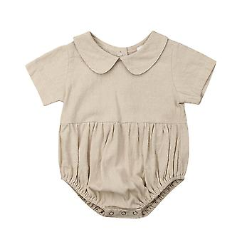 Baby Summer Clothing - Bodysuits Peter Pan Collar, Jumpsuits Outfits