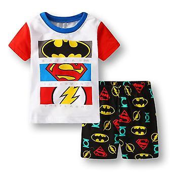 少年&パジャマ、サマーコットン半袖Tシャツ スリープウェア