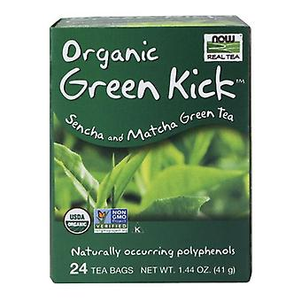 Maintenant Foods Green Kick Tea Bags, 24 chacun