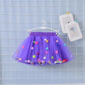 Colorful Skirt Pom Princess, Mini Dress For Kid Clothes Set-2