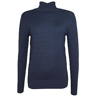 b.young Pimba Navy Polo Neck Jumper