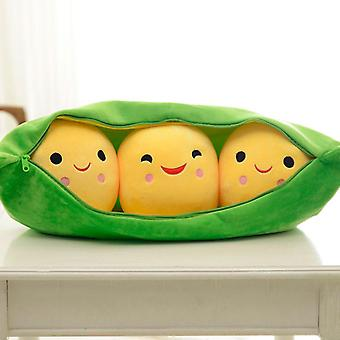 Creatieve schattige pop voor, 3 erwten in een pod pluche speelgoed -zachte Throw Pillow Verjaardag