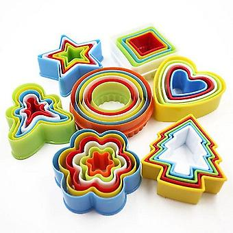 New Colorful Child Baby Multi-shape Plastic Mold, Cookie Biscuit Cutter Mould,