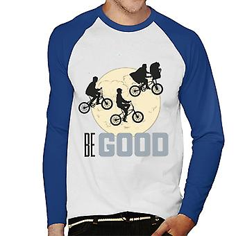 E.T. Classic Shot Be Good Men''s Baseball Long Sleeved T-Shirt