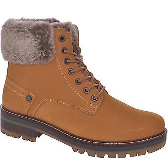 Wrangler Womens Denver Alaska Fur Casual Outdoor Walking Hiking Ankle Boots Tan