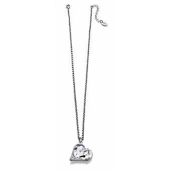 Fiorelli Fashion Imitation Rhodium Plated Crystal av Swarovski® Heart Hängande Halsband 50cm + 5cm