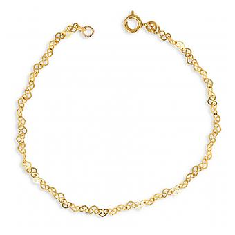 Gold-plated necklace Heart hollowed out 45cm