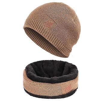 Mænd / Kvinder Unisex Winter Beanie Hatte Tørklæde Set-Warm Knit Hatte Skull Cap