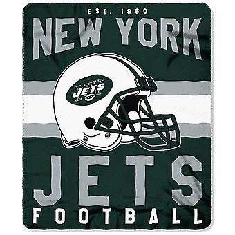 New York Jets NFL Northwest Team Stripe Fleece Throw