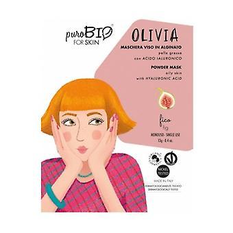 Olivia Peel off ansiktsmask - fikon fet hud - 11 13 g pulver