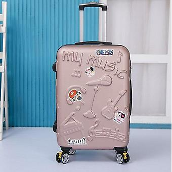 Abs Hard Travel Suitcase Rolling Luggage Cute Trolley Case / Travel Bag