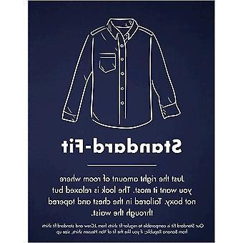Chemise en velours côtelé à manches longues Standard-Fit, -marine, Grande