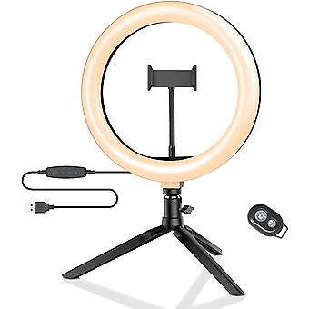 "Ring Light with Tripod Stand, 10.2"" LED Ring Light with Phone Holder"