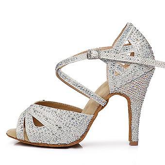 Sapatos de dança latinas de tecido feminino