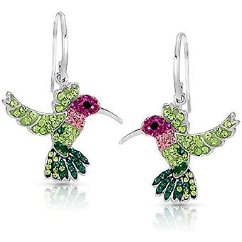 Colorful Flying Hummingbird Crystal Earrings for The Miracle of Living