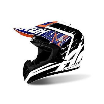 Airoh Switch Motorcycle Helmet Replacement Peak Startruck Blue PEAK ONLY