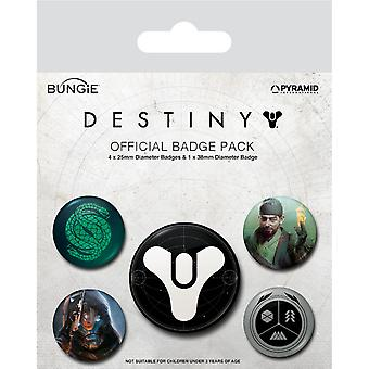 Destiny Guardians Of Light Badge Set (Pack of 5)