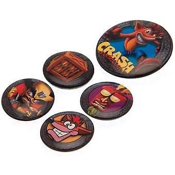 Crash Bandicoot Pop Out Badge Set (Pack of 5)