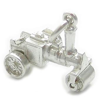 Ångrulle Liten Sterling Silver Charm .925 X 1 Stora Fordonscharm - 4462