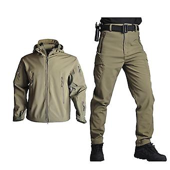 Men Soft Shell Waterproof Army Hunting Jackets