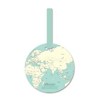 Fashion Map Luggage Tag Travel Accessories/silica Gel Suitcase Id Address