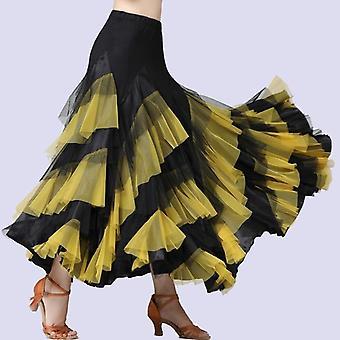 ריקוד תלבושות פלמנקו ואלס חצאית ריקוד סלוני