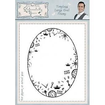 Sentimentally Yours Timeless Large Oval Frame Pre Cut Stamp