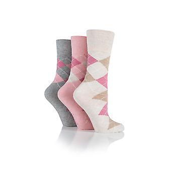 Chums Ladies 3 Pack Gentle Grip Socks