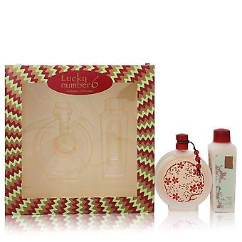 Lucky Number 6 Gift Set Por Liz Claiborne 3.4 oz Eau De Parfum Spray + 3.4 oz Body Lotion