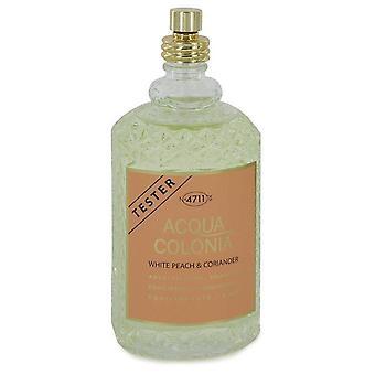 4711 Acqua Colonia White Peach & Coriander Eau De Cologne Spray (Unisex Tester) Por 4711 5.7 oz Eau De Cologne Spray