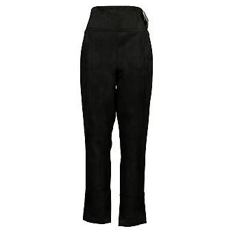 Andrew Marc Women's Pants Pull On Ponte Royale Black