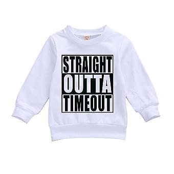 Recién nacido bebé único carta impresión suéter sudadera caliente de manga larga