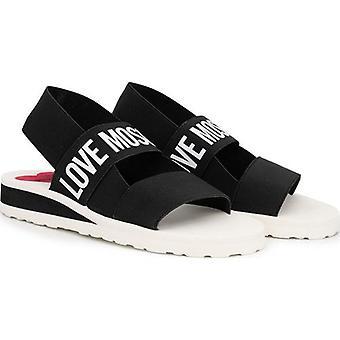 Älskar Moschino Elastiska Logo Sandaler