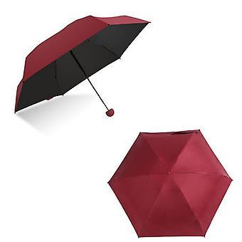 Mini Capsule Umbrella Five-folding Sun Protection Anti-uv Upf50 Parapluie Women