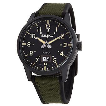 Seiko Quartz Black Dial Men's Watch SUR325P1