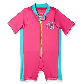 Speedo Sea Squad spädbarn Junior flickor flyta simning simma kostym rosa