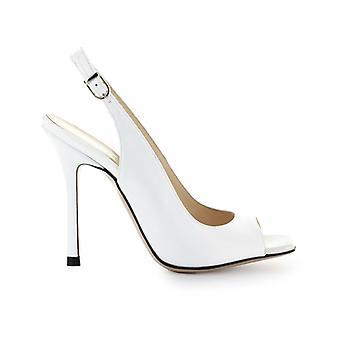 Marc Ellis White Leather Sandal