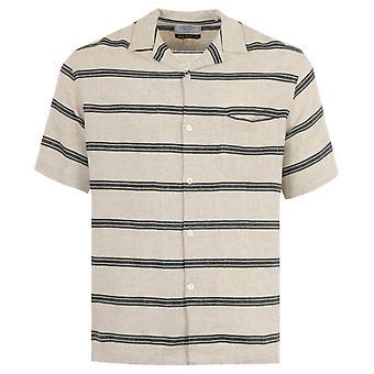 Portuguese Flannel San Francisco Short Sleeve Shirt - Beige