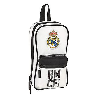 Backpack Pencil Case Real Madrid C.F. White Black (33 Pieces)