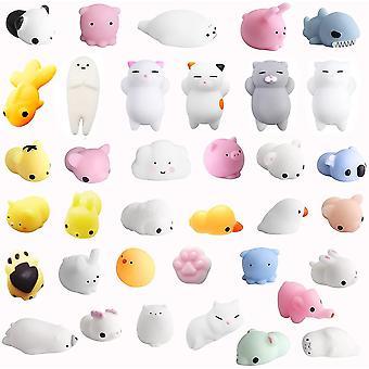 36 Stuck Squishies Kawaii Soft Silikon Spielzeug Anti-Stress Squeeze Mini Squishy Tierspielzeug