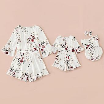 Perhe mekot setti, Kukka Äiti Vauvanvaatteet, Mekko