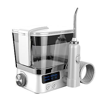 Water Flosser for Teeth Cordless, 500ml Portable Dental Flosser Oral Irrigator Upgrade with 5 Cleaning Modes White