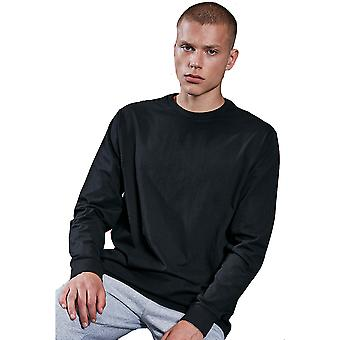 Cotton Addict Mens Organic Cotton Round Neck Long Sleeve Top