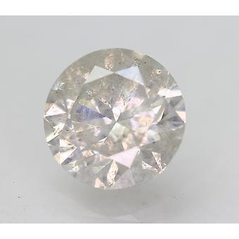 Sertifioitu 2,37 karat G SI3 pyöreä brilliant parannettu luonnollinen löysä timantti 8,42mm