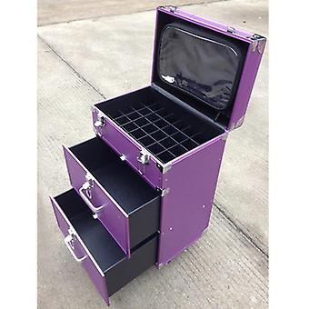 Women Trolley, Cosmetic Case Rolling Luggage