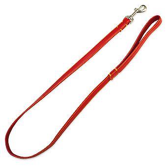 Arquivet Lisa Red Lederband 2 x 120 cm (Hunde , Für den Spaziergang , Leinen)