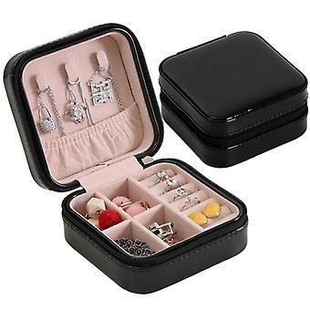 Cas d'organisateur de boîte de bijoux de voyage pour la montre de boucle d'oreille de collier c206